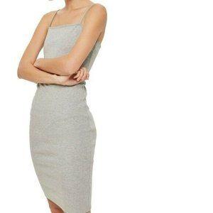 Topshop Women Dress Size 6 NWT Gray Bodycon